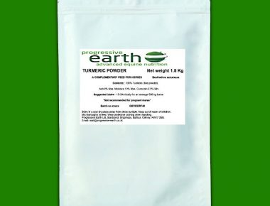 Progressive Earth Turmeric Powder for horses and ponies. Joint and digestive health equine supplement.