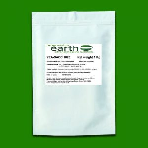 Progressive Earth Yea-Sacc live yeast culture for horses an ponies. Hind gut health supplement for equines.