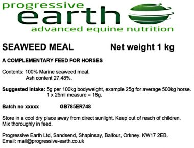 Hebredean seaweed meal makes a great source of iodine for horses.