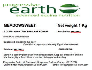 Progressive Earth Meadowsweet Label