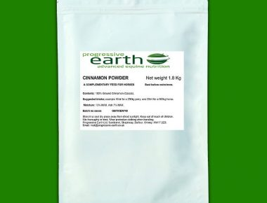 Progressive Earth Cinnamon powder for horse metabolic suuport