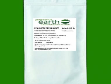 Progressive Earth Fenugreek Powder. Equine appetiser.