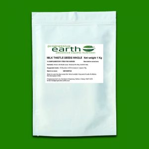 Porgressive Earth milk thistle seed (whole) for equine detox and liver support