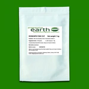 Progressive Earth Rose Hips (fine cut) equine digestive tonic and immune system support.