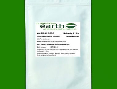 Progressive Earth Valerian root relives stress and fear in horses and ponies.