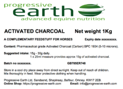 Progressive Earth Activated Charcoal Label