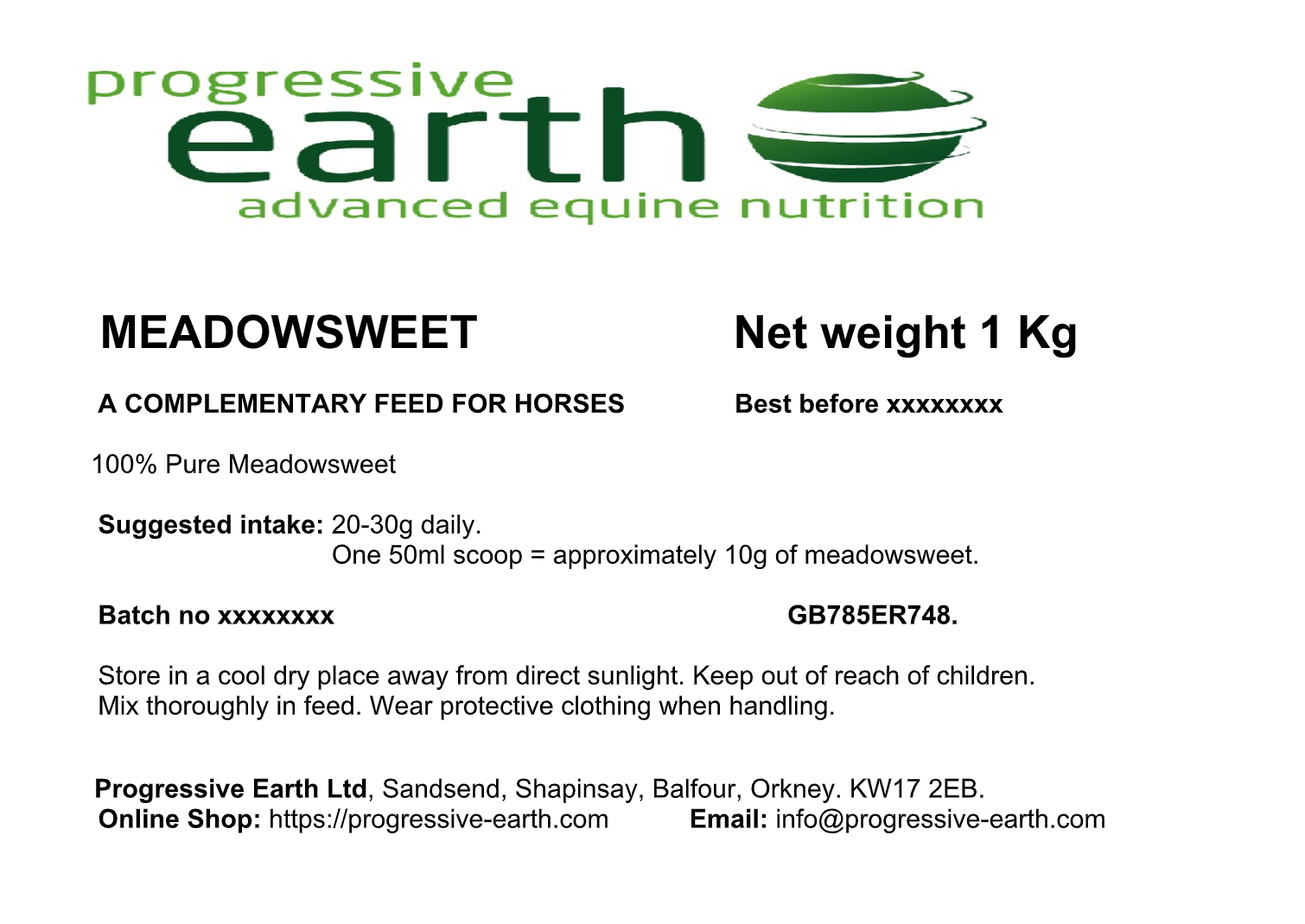 MEADOWSWEET - Equine herbal supplement to support joint mobility and  comfort  Digestive tonic and immune system support