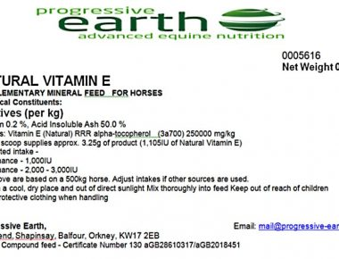 Natural Vitamin E oil is a great source of Vitamin E for horses and ponies