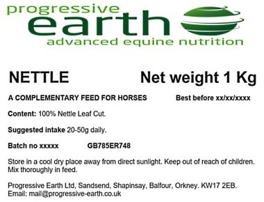 Nettle for joint mobility and kidney support in equines.