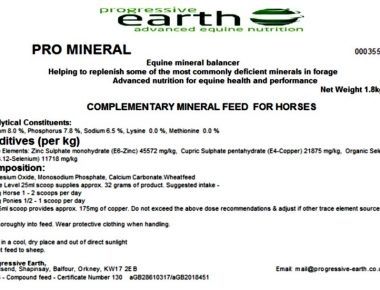Pro Mineral is an ideal mineral supplement for horses for use without professional forage analysis.