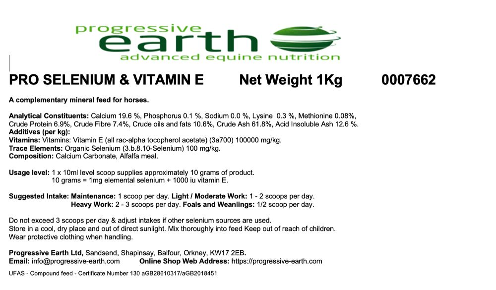 PRO SELENIUM & VITAMIN E - Equine Immune Function Muscle Health Performance  Recovery