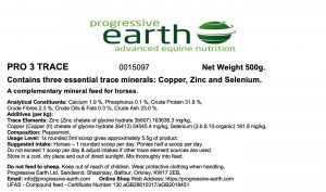 PRO 3 TRACE Equine Supplement Three Essential Trace Minerals Copper, Zinc and Selenium in a highly absorbed form. Often low in UK forage.