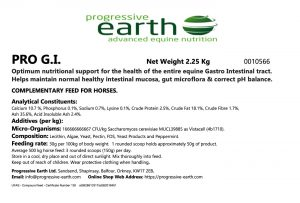 PRO G.I. Optimum nutritional support for the health of the entire equine Gastro Intestinal tract.